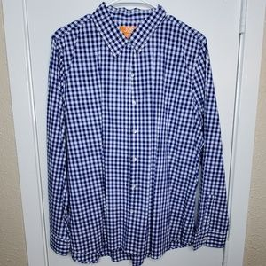 Long Sleeve Blue Button-Up Shirt